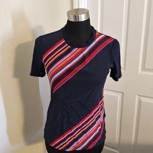 Tory burch striped linen top